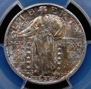 1929 D Standing Liberty Quarter Pcgs Ms 63 Full Head Very Pq And Very Tough In Fh
