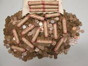 Roll Of 1909-1958 Wheat Pennies - 50 Penny Cent Unopened Unsearched Coins