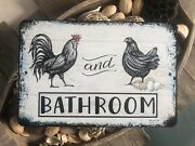 Boys And Girls Bathroom Sign - Unisex Restroom Sign - Farmhouse Sign - Rooster