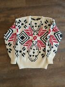 Carson Pirie Scott And Co Vtg Hand Knit Mens Sweater Sz Large Wool Blend