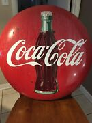 Beautifully Aging Adds Character To This Americana Sign.vintage Cocacola Sign.