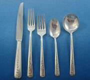 Rambler Rose By Towle Sterling Silver Flatware Set For 12 Service 65 Pieces