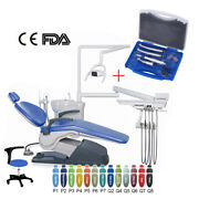 Dental Chair Leather Dc Motor Unit Hard Leather + High Low Speed Handpiece Set