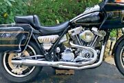 Chrome Thunderheader 2 Into 1 Exhaust System Pipe 87-94 Harley Fxr Mid Controls