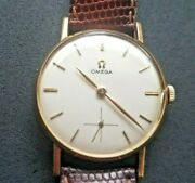Omega Rose Gold Watch 1960and039s Nice Condition . Reduced And Retails At Andpound1500 As Is.