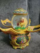 Disney Winnie The Pooh Animated Rotating Spin Petal Snowglobe Music Box From 196