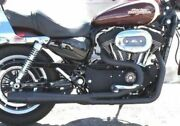 Black Thunderheader 2 Into 1 Exhaust Pipe System 2004-2006 Harley Sportster Xl
