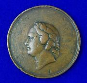Antique Imperial Russian Russia 1838 Large Bronze Table Medal