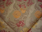 9y Craftex Red Gold Sage Moss Floral Jacquard Drapery Upholstery Fabric