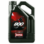 Motul 800 2t Factory Line Off Road 2 Stroke Motorcycle Engine Oil 4 Litres 4l