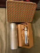 1950s American Thermos Bottle Co. Lunch Box W/thermos And Spare Glass Bottle