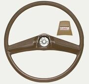 Oer Saddle Steering Wheel With Red Gmc Logo Horn Cap 1969-1972 Gmc Pickup Truck