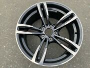1 X Genuine Front 19x9 Bmw M4 Forged Wheel Style 437m In Excellent Condition