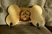 Pyrography Art Key Lead Rack Yorkshire Terrier Gift Idea Limited Edition