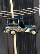 Vintage Handmade And Painted Philippines Safari Tin Toy Car