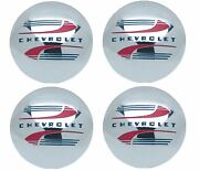 Oer Reproduction Stainless Steel Hub Cap Set 1941-1946 Chevy Pickup Truck 1/2ton