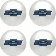 Oer Reproduction Stainless Steel Hub Cap Set 1954-1955 Chevy Pickup Truck 1/2ton