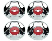 Oer Reproduction Chrome Plated Hub Cap Set 1964-1966 Chevy Pickup Truck 1/2 Ton