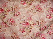 12-3/4y American Folk And Fabric Antique Collection Colony Rose Upholstery Fabric