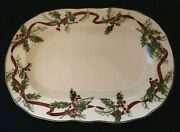 Charter Club Winter Garland Oval Serving Platter 14 Christmas Holly