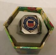 """New Heavy Solid Stainless Steel Men's """"united States Secret Service """" Ring"""