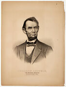 Abraham Lincoln Mourning Print From Currier And Ives