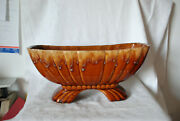 Vintage Brown Drip Vtg Pottery Planter Usa Unbranded Matches Hull And Mccoy