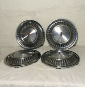 71-72 Oldsmobile Olds Toronado 15andrdquo Oem Chrome Wheel Covers Hub Caps Nice Set 4