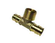25 1/2 Propex Expansion Male Tee, F1960, Lead Free Brass, For Uponor Wirsbo