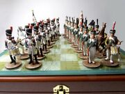 Chess, Borodino, French And Russian Soldiers, Metal,54mm