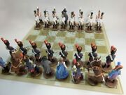 Chess, Austerlitz, French And Russian Soldiers, Metal,54mm