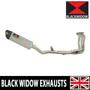 Z900 17-19 4-1 Race De-cat Exhaust System Tri Oval Stainless Silencer Sc35t