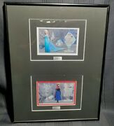 Disney Elsa And Anna Frozen Matted Character Key Cels Framed Limited Edition Le500