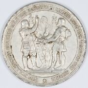 1891 Swiss White Metal 600 Anniversary Medal Foundation Of Swiss Confederacy