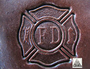 Discontinued 1986 Craftool Co. Usa Fire Department Logo 1 Leather Stamp 8373