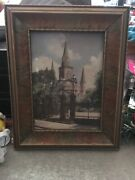 C. Bennette Moore Hand Painted Photo 1930andrsquos Old St. Louis Cathedral