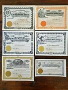 Us 6 Vintage Idaho Unissued Mining Stock Certificates Gold Hunterhomestake