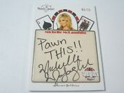 2013 Benchwarmer Vegas Baby Inscriptions Gold Foil Michelle Mclaughlin And039d 06/21