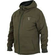 Fox Collection Green/silver Sherpa Hoody