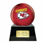 Large/adult 200 Cubic Inch Kansas City Chiefs Metal Ball On Cremation Urn Base