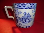 Vintage Blue Willow Mug Myott And Sons 4 Tall Rare Blue Willow Variant Lovely