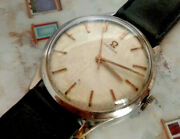 1960s Antique Omega Seamaster Stainless Steel Watch Cal. 286 Textured Dial