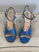 Rare Pair Of Rayne Womens Vintage Shoes With Wedgwood Heel