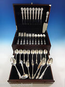 Wild Rose By International Sterling Silver Flatware Set For 8 Service Place Size