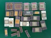 Lot 28 Ic Cpu Chip Ic`s Vintage Ceramic Cpu For Gold Scrap Recovery Rare