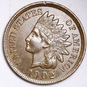 1902 Indian Head Small Cent Choice Unc Free Shipping E139 T