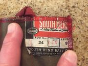 Split Bamboo Fly Rod Vintage South Bend 24 - 9 Stainless W / Tube And Sock