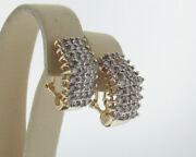 Genuine 2.00cttw Champagne Diamonds Solid 10k Yellow Gold Earrings
