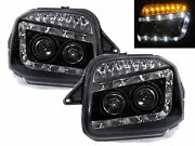 Jimny 98-18 Suv 2d Projector Led R8look Headlight Black For Chevrolet Chevy Lhd