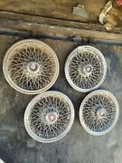 1970and039s 1980and039s Oldsmobile Crest 14 Wire Spoke Hubcaps Vintage Kelsay Hayes Deep